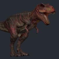 dinosaur dino rex 3d max