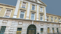 3d model london facade hospital