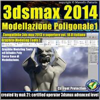 3ds max 2014 Modellazione Poligonale v.18 Italiano cd front