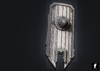 zbrush wooden shield 3d obj