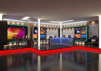 3d model news room studio 016