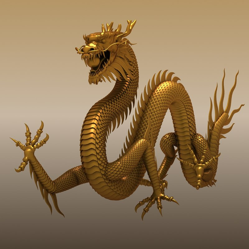 chinese dragon 3d model - photo #18