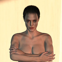 angelina jolie body female 3d model