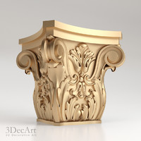 decorative capitals 3d model