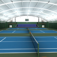 indoor tennis courts 3d ma