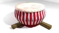 3d rebana musical instrument