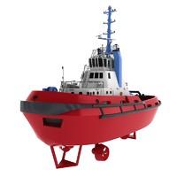 tug boat 3d model