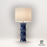 3d horshow blue ceramic lamp