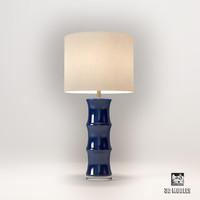 3d horshow blue ceramic lamp