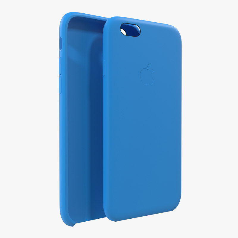 iPhone 6 Silicone Case Blue 3d model 00.jpg