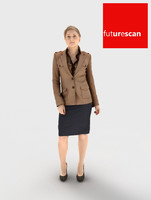 3d man woman businesswoman model