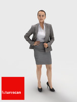 woman businesswoman 3d model