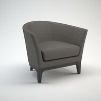 3d tulip armchair model