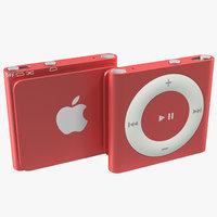 3d ipod shuffle red model