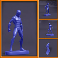 spidey character 3d model