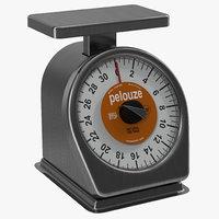 mechanical portion control scale 3d c4d