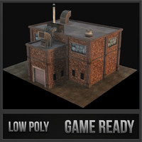 3d small industrial building model