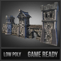 3dsmax medieval stone castle pack