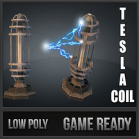 3d model tesla coil tower