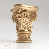 decorative capitals kl 006 3d max