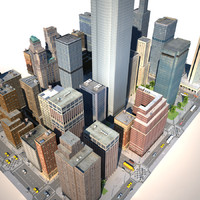 city building v-ray 3d model