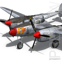 3d lockheed lightning - beautiful model
