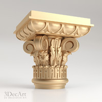 3d decorative capitals
