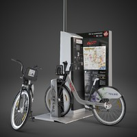 3d model of citibike bixi montreal