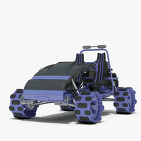 3d model road vehicle concept -