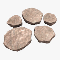 sandstone stones rocks 3ds