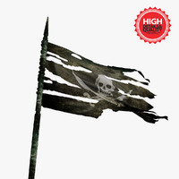 3d flag pirate