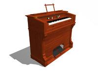 harmonium 3d model