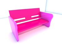 3d bench seat