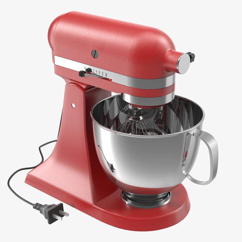 Stand Mixer Red 3d model 00.jpg