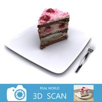 max scanned raspberry cake
