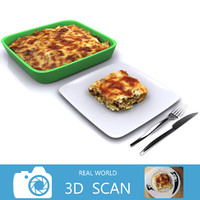 3d scanned lasagna model