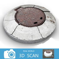 3d model scanned sewer lid