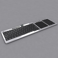 3d model ultra slim keyboard