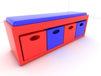 seat stool 3d model