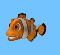maya cartoon clown fish