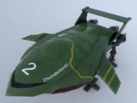 3d model thunderbird tv