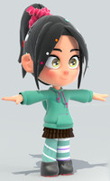 kid girl 3d 3ds