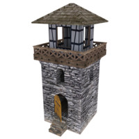3ds max tower medieval