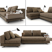 3d model sofa minotti
