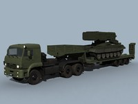 3d kamaz-65225 tos-1a combo transporting model