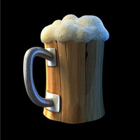 beer cartoon 3d model