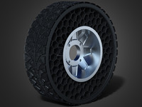 airless wheel 3d obj