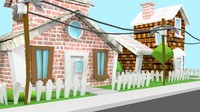 house cartoon 3d model