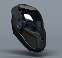 3d scifi helmets - 3 model