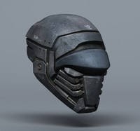 3d scifi helmets - 2 model